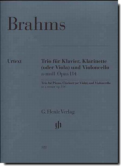 Brahms Trio for Piano, Clarinet, and Cello A min