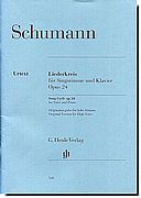 Schumann - Song Cycle Op. 24